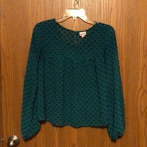 Merona flowy long-sleeved blouse